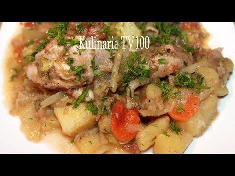 Картошка тушеная с капустой и кабачками в мультиварке