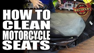 How To Clean Motorcycle Seats - Masterson's Car Care