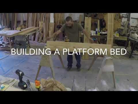 Building a platform bed.
