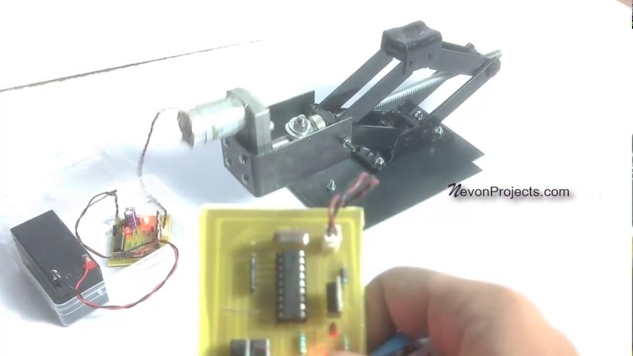 Remote Controlled Automatic Scissor Jack Project
