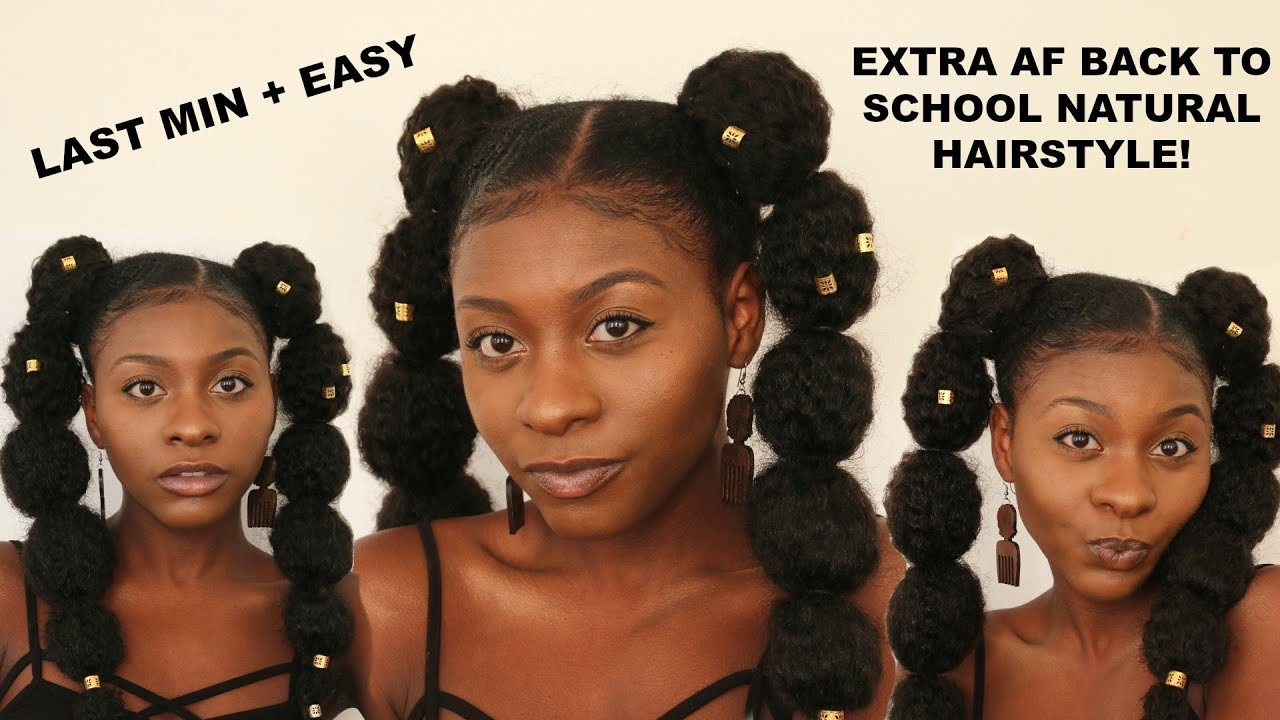 most extra 90's inspired natural hairstyle + 2 ways to style it | kurlyphro