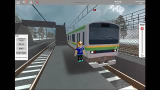 Roblox (terminal Railways) Uji coba KRL JR DARI JEPANG parte 7