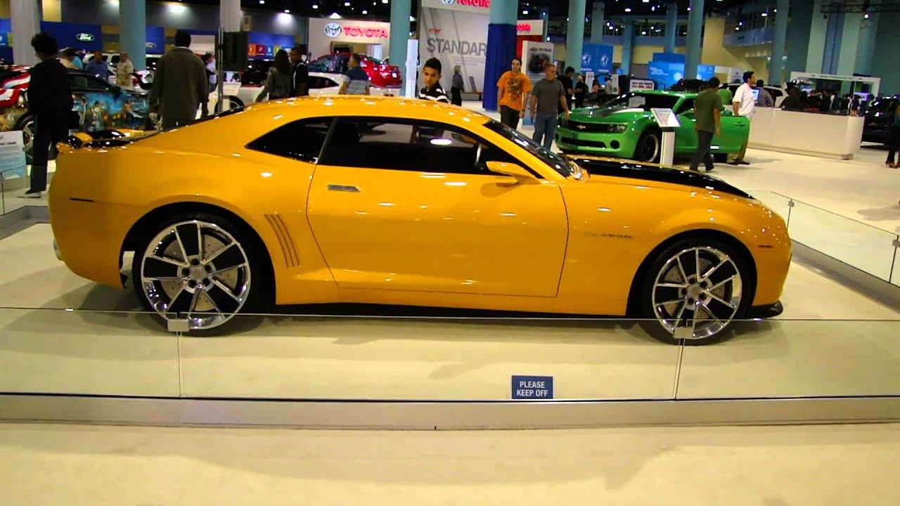 2011 Bumblebee Camaro At The 2010 Miami Auto Show Youtube