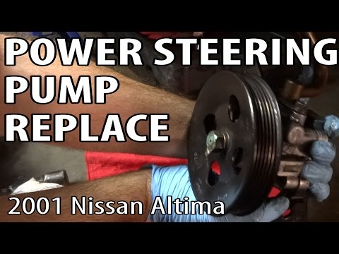 Nissan Altima Power Steering Pump Replace