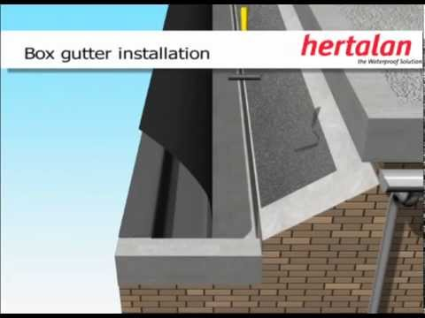 Hertalan Epdm Box Gutter Installation Youtube