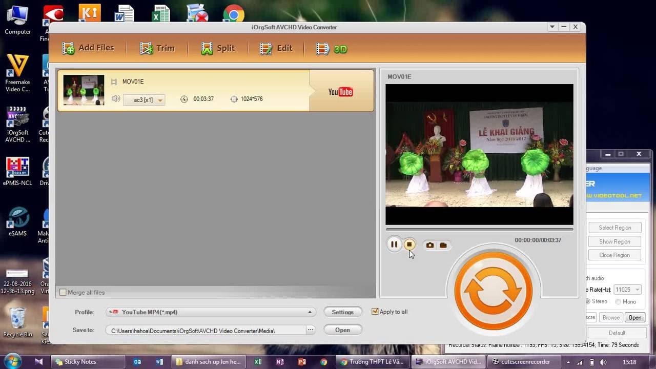 Đổi định dạng video (Convert MOD to AVI, MP4, MOV, MPG, FLV, MKV, DV, and WMV)