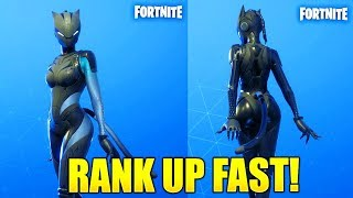 HOW TO GET BLACK LYNX FAST! HOW TO RANK UP FAST AND COMPLETE LYNX CHALLENGES IN FORTNITE!