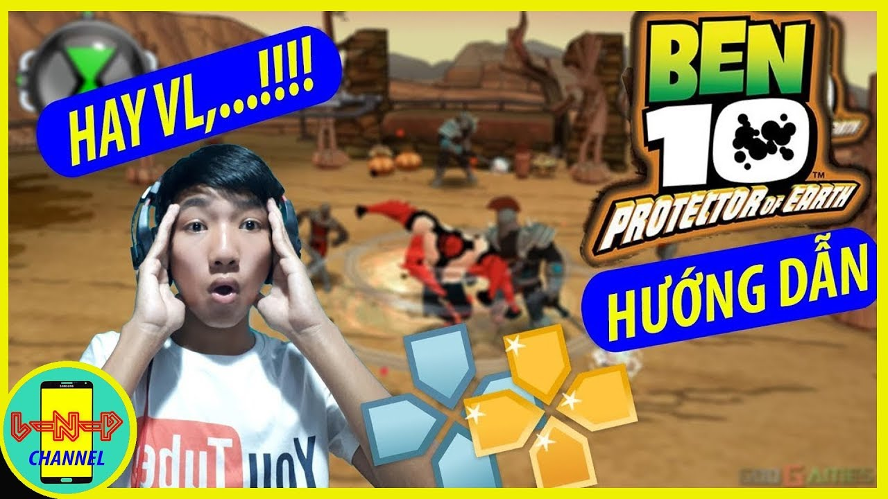 Hướng dẫn Tải + Hack Ben10 protector of the earth   PPSSPP