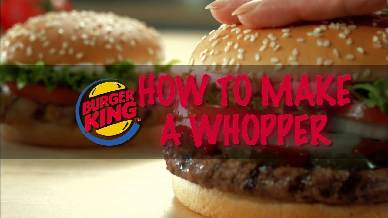 Burger King - How To Make a Whopper & The Time Test