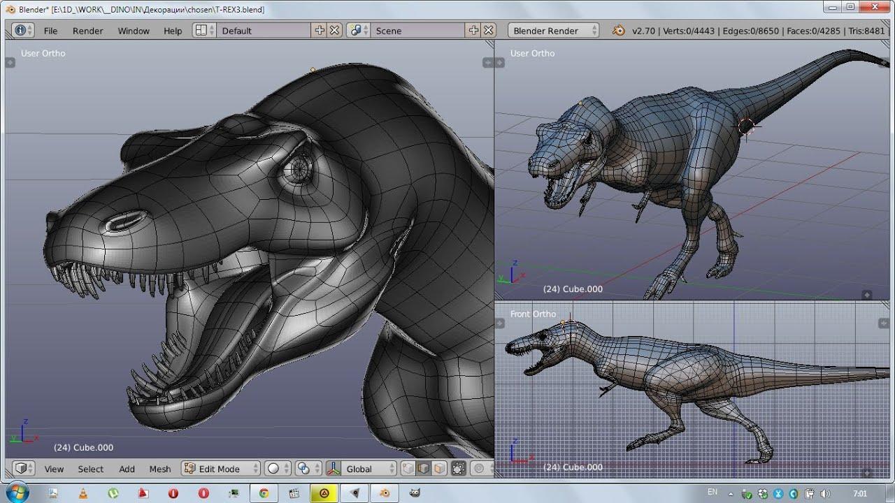 Dinosaur 3d Live Wallpaper 1d Blender Static T Rex Dinosaur Stripe Organic Modeling