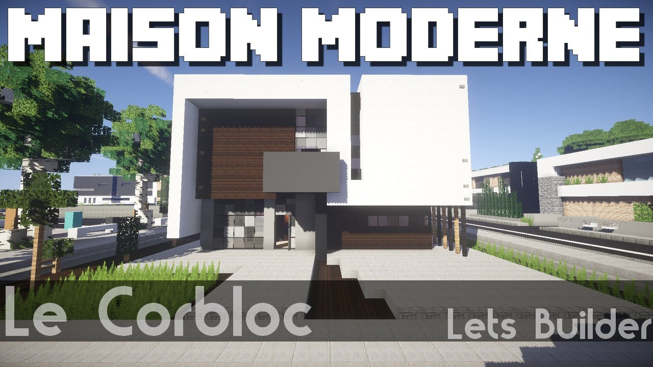 Minecraft maison moderne youtube for Minecraft maison moderne avec xroach