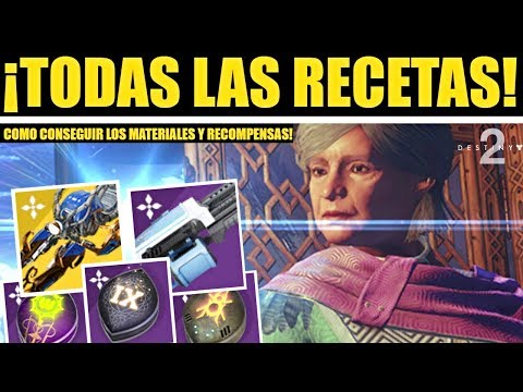 Destiny 2 - Guía de Todas las Recetas e Ingredientes de la Aurora! Plano Exótico & Recompensas! thumbnail