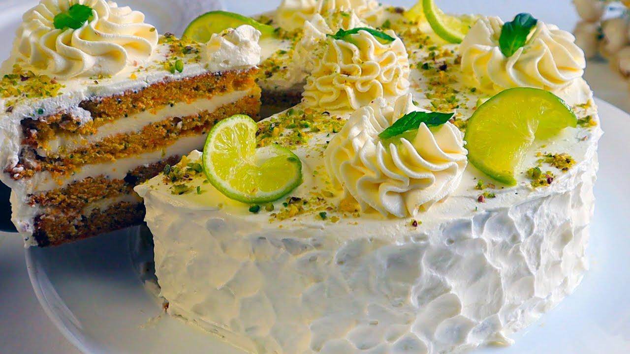 """Морковный Торт """" Кокетка"""" с творожным кремом из трёх ингредиентов! Домашний,вкуснейший тортик"""