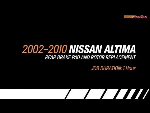 Nissan Altima Rear Brake Pads & Rotors Replacement – 2002-2010 – Make Model Series