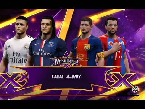 Ronaldo vs Messi vs Ibrahimovic vs Ribéry ! WWE 2K15