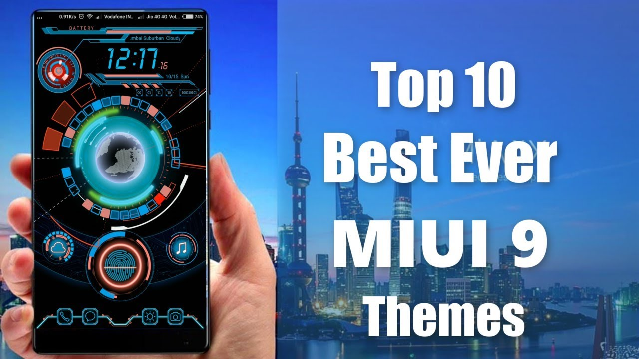Theme For Xiaomi Redmi Note 4: Top 10 Themes For MIUI 9 / MIUI 8 October 2017