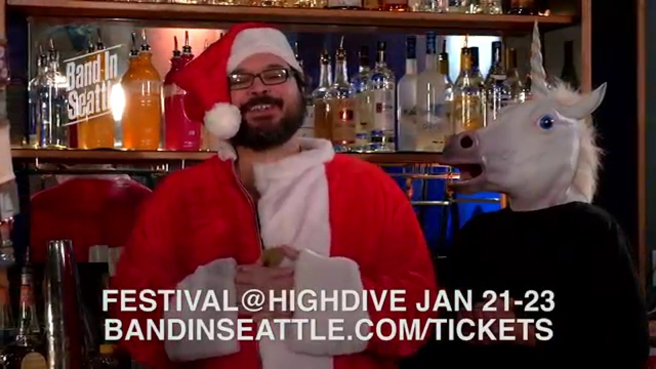 Davin Plays Santa In Band In Seattle TV Commercial