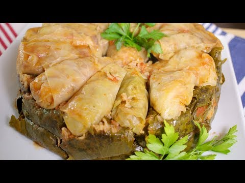 How to make Cabbage Rolls (Vegetarian) / Dolmat Kalama (Assyrian Food)