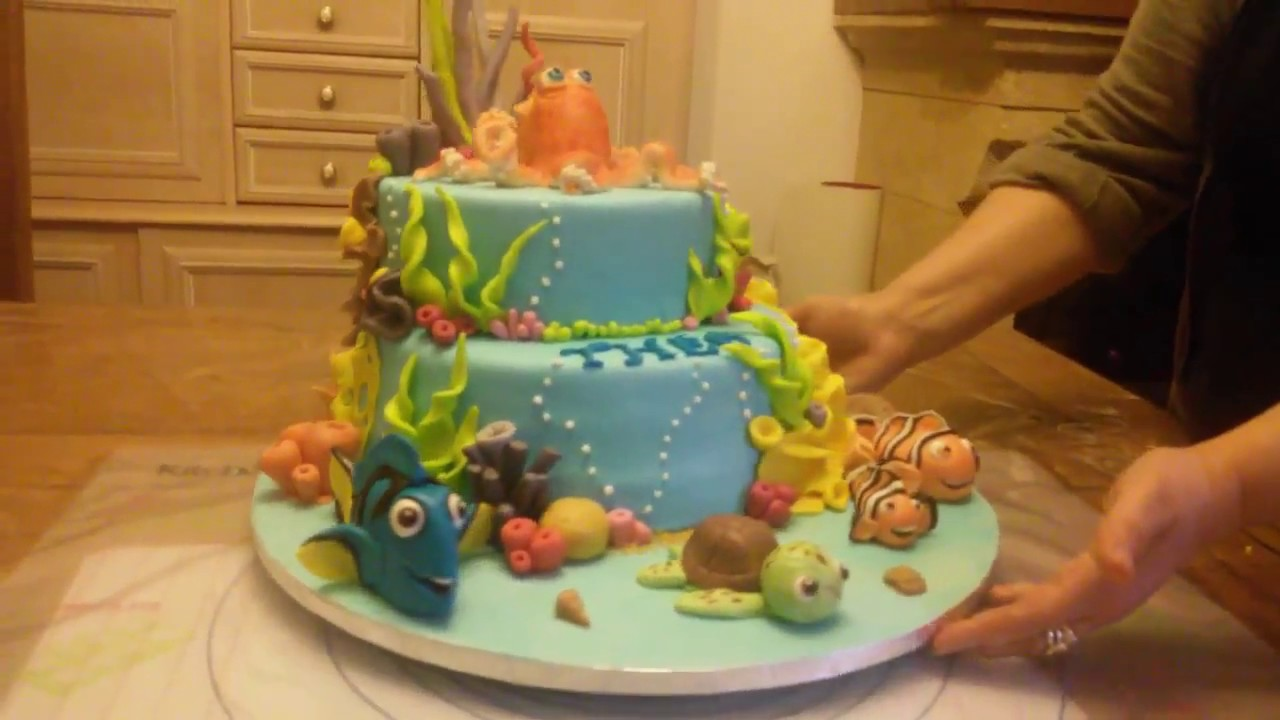 gateau cake design dory nemo tutoriel decoration pate a sucre youtube. Black Bedroom Furniture Sets. Home Design Ideas