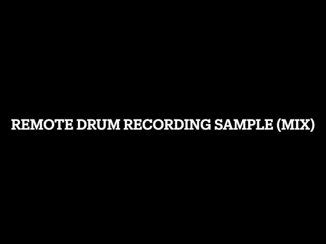 Remote Drum Recording Sample (Rock)