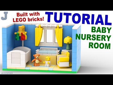 LEGO Baby Nursery Room How To Build Tutorial thumbnail