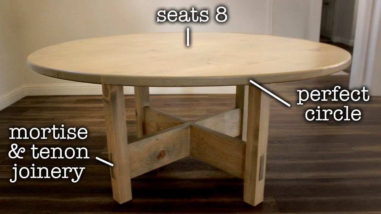 Ordinaire Round DIY Dining Table To Step Up Your Woodworking Skills