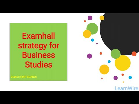 Exam hall strategy for Business Studies class 12 MP BOARD