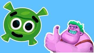 Мультфильм для детей про ИГРЫ Приключения Инопланетянина и Семейка Зомби FineKidsTV