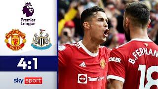 CR7 ist zurück und wie!   Manchester United - Newcastle 4:1   Highlights - Premier League 2021/22