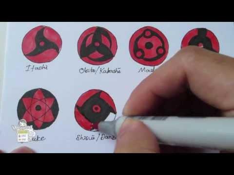 How to draw all Mangekyou Sharingan 万華鏡写輪眼