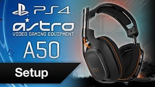 Astro A50 Headset Set Up with PS4 + Firmware Update Guide (@ASTROGaming)