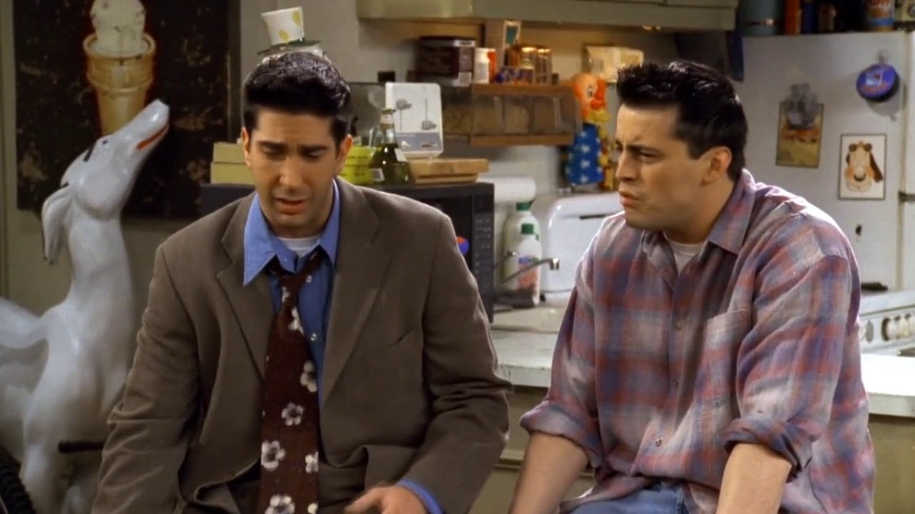 FRIENDS - Ross and Joey Tries to Convince Frank.jr