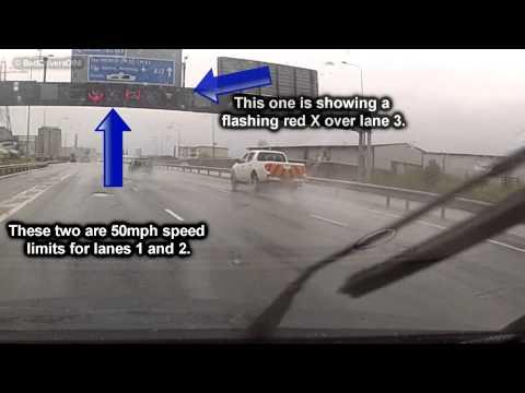 Truck ignores Motorway Lane closure - M1 Belfast