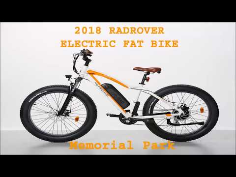 2018 RADROVER ELECTRIC FAT RAD POWER BIKE 36 Memorial Park