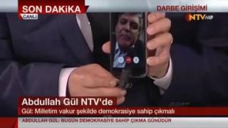 Abdullah Gül'den 15 Temmuz Darbe Girişimine Sert Tepki