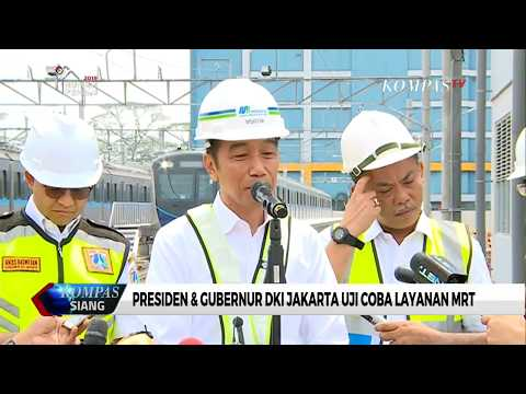 Presiden Jokowi & Gubernur Anies Uji Coba MRT Mp3