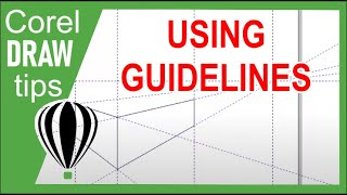 using guidelines in perspective drawing in CorelDRAW