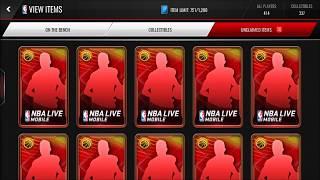 10X SUMMER ELITE PACKS! AWESOME BACK 2 BACK PULLS!!! NBA LIVE MOBILE