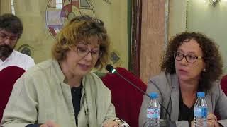 Ángeles Micol defiende la posición de Ahora Murcia en el pleno extraordinario
