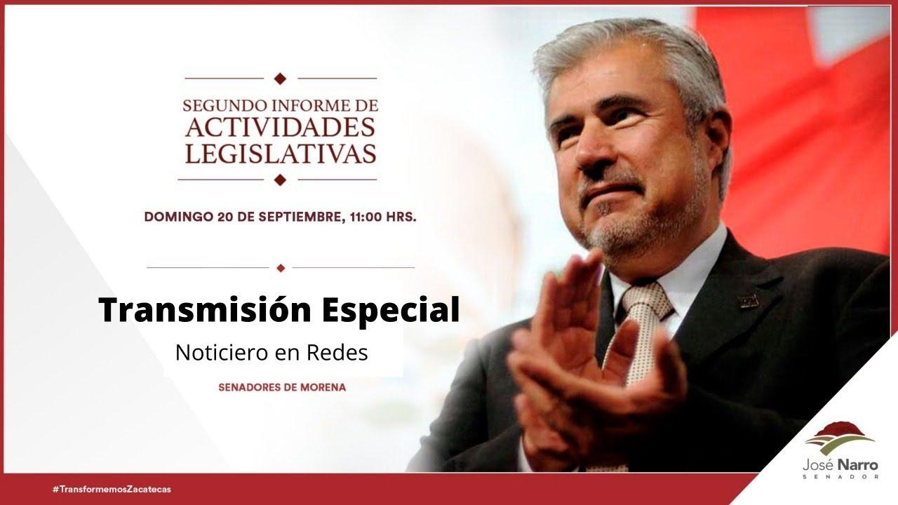 Senador de Morena rinde Segundo Informe #EnVivo
