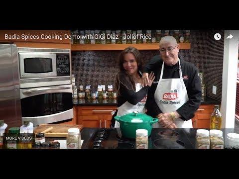 Badia Spices Cooking Demo with GiGi Diaz  Jollof Rice