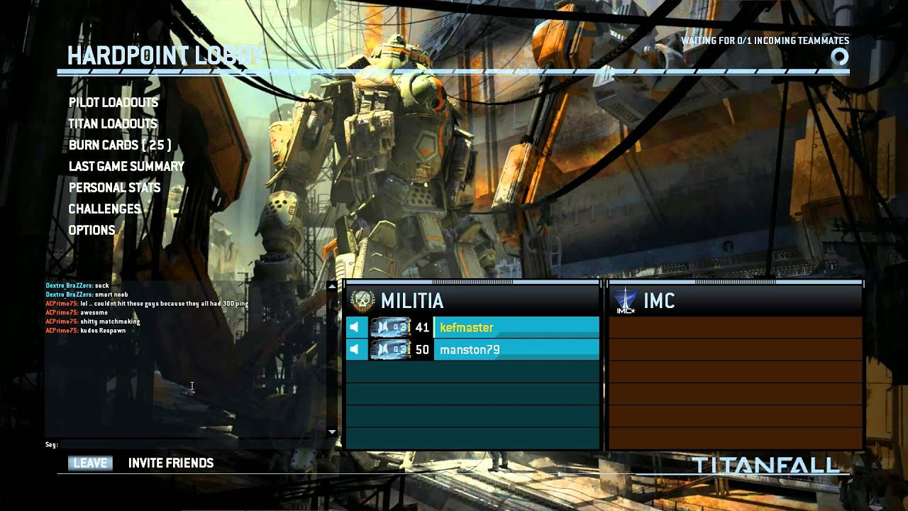 Titanfall matchmaking problems pc