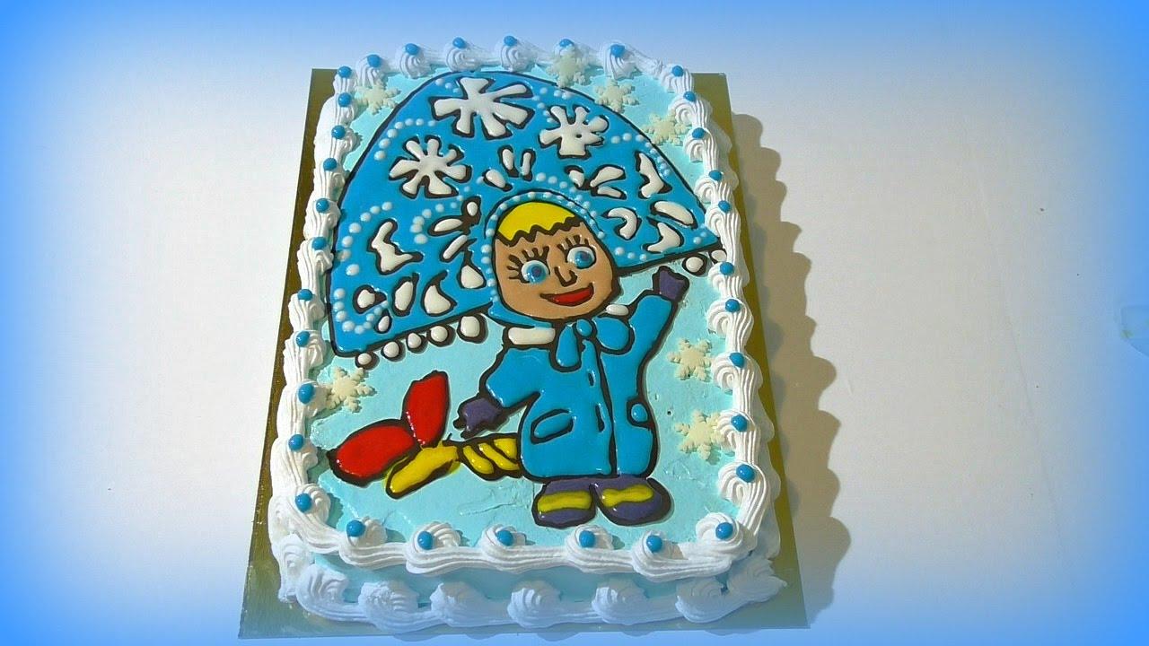 Кремовый торт МАША Кремовые торты для детей Торт раскраска ...