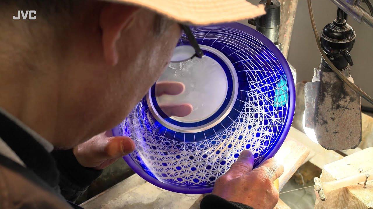 Edo Kiriko Cut Glass In 4k Yoshiro Kobayashi Youtube