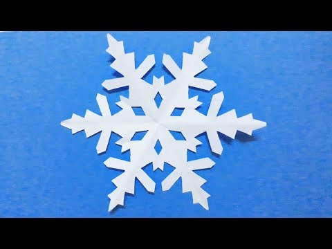 How to make a paper snow flower  | Simple and Easy | Dzi's House