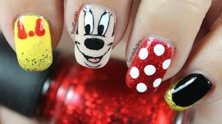 Disney Nail Art *Minnie Mouse*