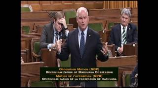NDP Opposition Motion: Decriminalization of Marijuana Possession (June 13, 2016)