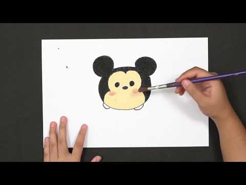 How To Drawing - A CUTE Baby Mickey Mouse - Step By Step - Easy Drawing