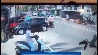 Car Accident Caught live on CCTV Sri Lanka