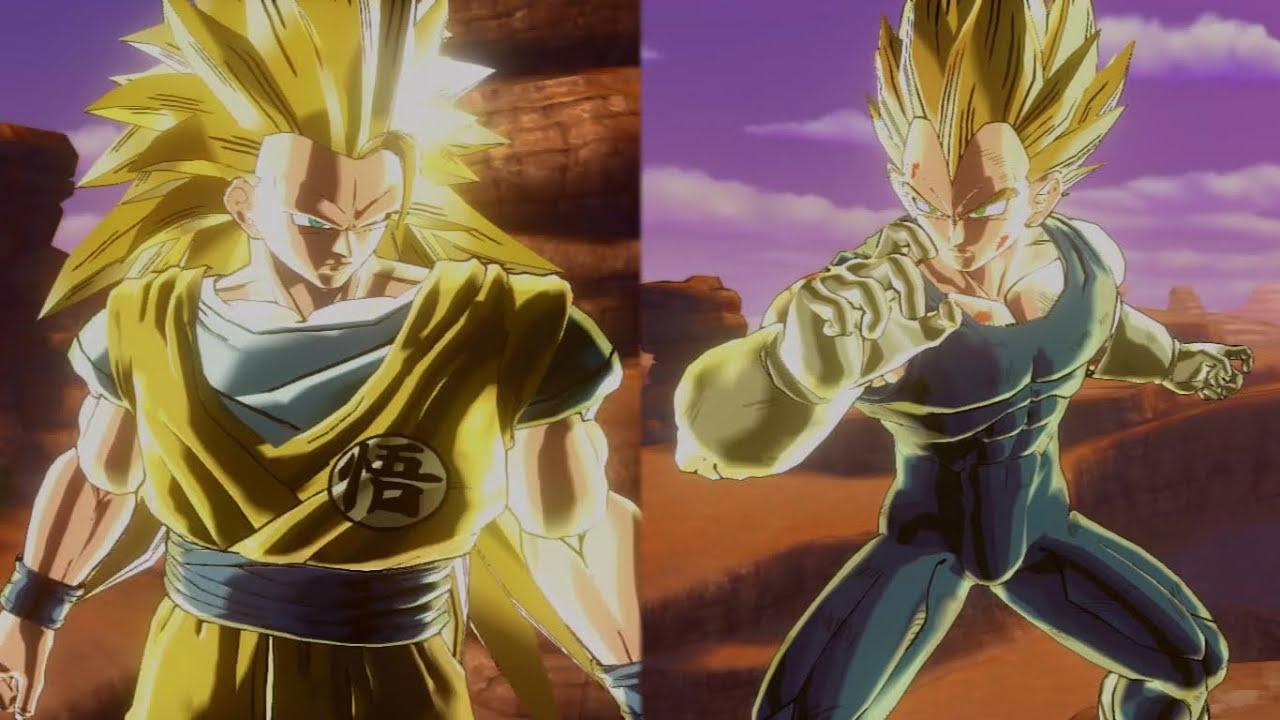 Goku SSJ3 vs Vegeta SSJ2 | Dragon Ball Xenoverse - YouTube